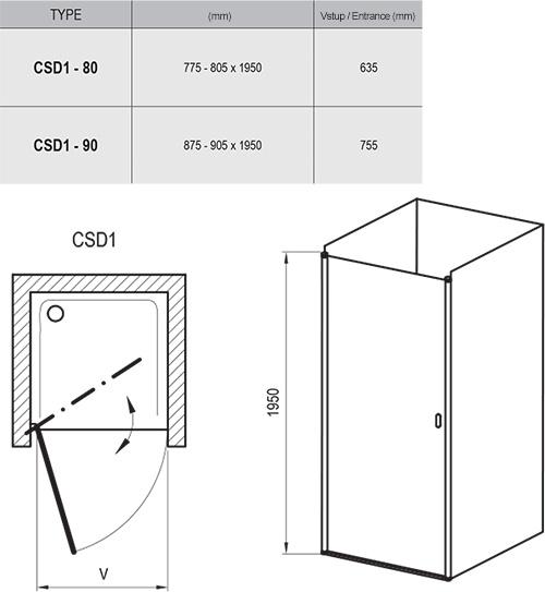 Chrome CSD1 zuhanyajtók