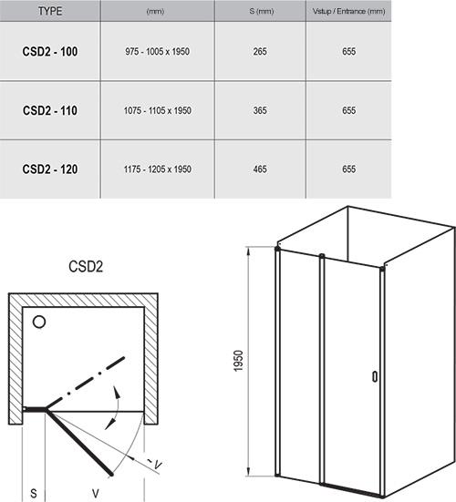 Chrome CSD2 zuhanyajtók