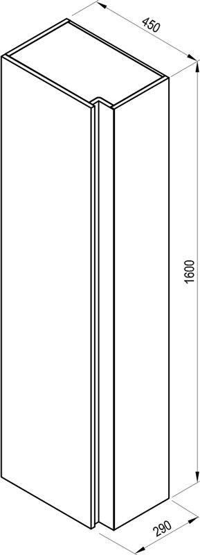 SB 10° magas faliszekrény