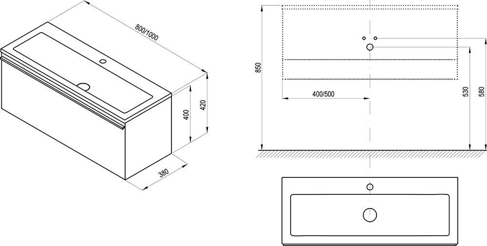 Clear SD 800 mosdó alatti szekrény