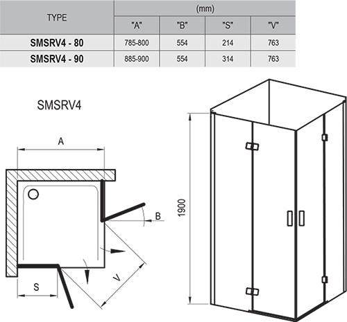 SmartLine SMSRV4 zuhanykabinok