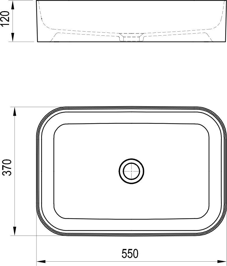 Ceramic Slim R kerámia mosdó