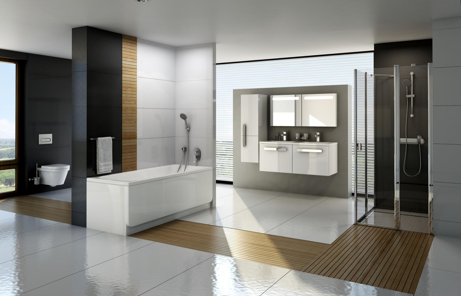 A teljeskörű fürdőszoba koncepciók valamennyi alapterületre kínálnak megoldást, legyen szó zuhanykabinról, kádról vagy mindkettő elhelyezéséről.