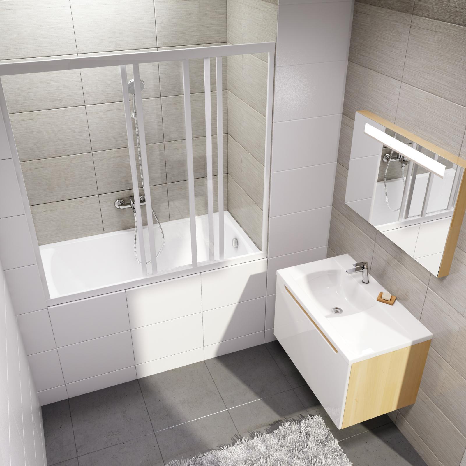 A rövidített, 120 cm hosszúságú minikád változat ideális a kis fürdőszobákba vagy falfülkékbe, bemélyedésekbe hiszen az apró mérete mellett megőrzi a klasszikus kádak mélységét.