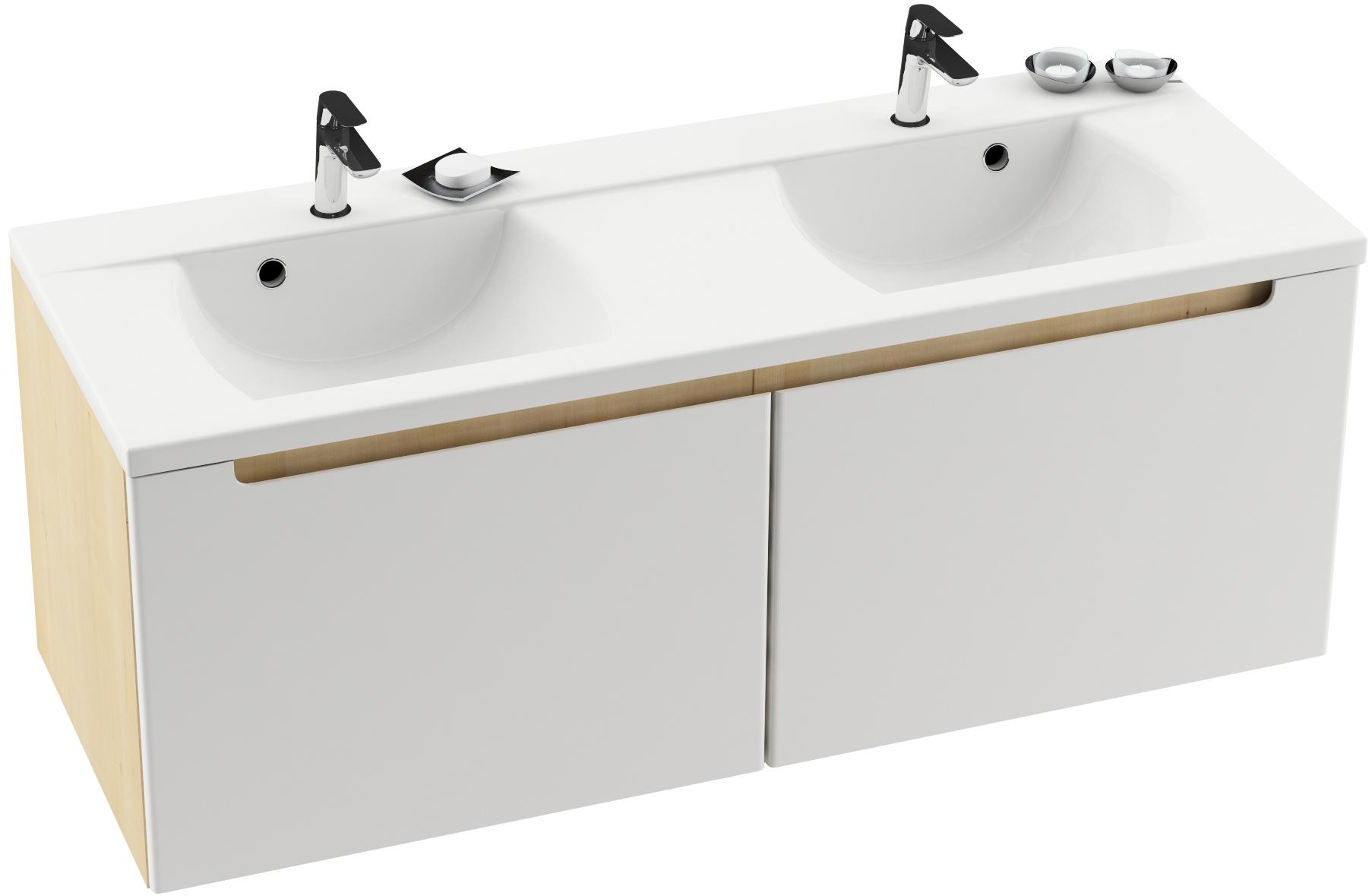 A nagy családosok számára elengedhetetlen dupla mosdó is szerepel Classic kivitelben, amely nagyon praktikus alapdarab a fürdőszobában.