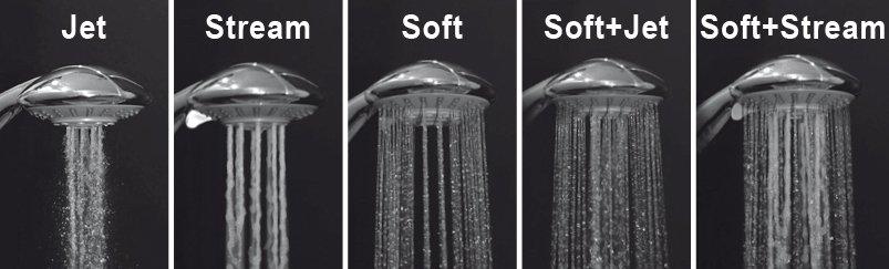 A multifunkciós zuhanyfej egyszerre felel meg az elegancia és a praktikum követelményeinek, miközben 5 funkciójával teljeskörő élményt garantál.